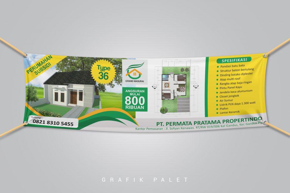 Spanduk Perumahan Grand Masurai Gandus Palembang Grafik Palet